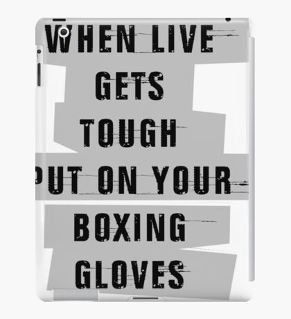 Boxing Gloves Quotes iPad Case/Skin