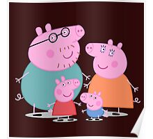 daddy pig and familly Poster