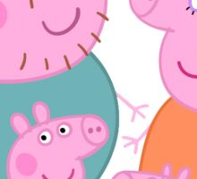 daddy pig and familly Sticker