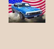 1968 Chevrolet Camaro 327 And United States Flag Unisex T-Shirt