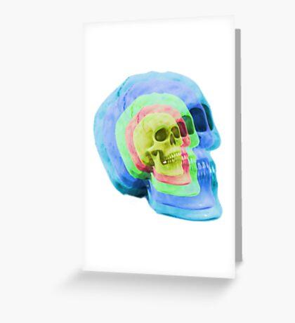 Psych Skull Greeting Card