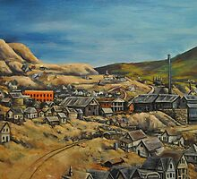 Panoramic~Early Victor Colorado~Painting~early 1900's~late 1800's by shinerdog