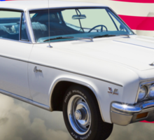 1966 Chevrolet Caprice 427 With United States Flag Sticker