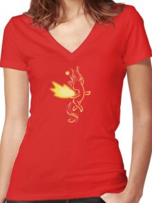 Tribal Pony - Daydream Shimmer Women's Fitted V-Neck T-Shirt