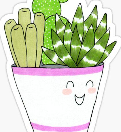 Cute Succulent III Sticker
