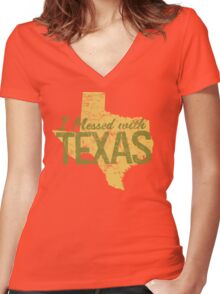 I Messed With Texas Women's Fitted V-Neck T-Shirt
