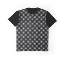 Black and White Small Polka Dots Graphic T-Shirt