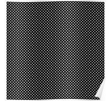 Black and White Small Polka Dots Poster
