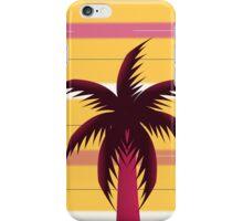 Palm tree in stripes iPhone Case/Skin