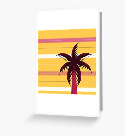 Palm tree in stripes Greeting Card