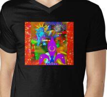 Cupids Guardian Moon Mens V-Neck T-Shirt