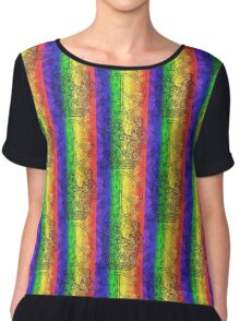 Colorburst Monkees Chiffon Top