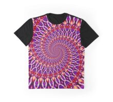 POWER SPIRAL magic flames red violet Graphic T-Shirt
