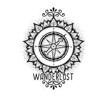 Wanderlust Compass Design Photographic Print