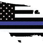 Thin Blue Line United States by Monkeyphoto