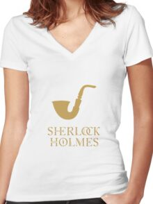Sherlock Holmes Women's Fitted V-Neck T-Shirt