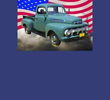 1951 ford F-1 Pickup Truck With American Flag Unisex T-Shirt