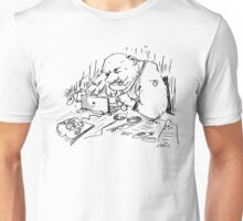 Mr Spam writes an e-mail Unisex T-Shirt