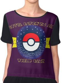 WORLD GAME Chiffon Top