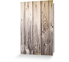 vertical view rustic wood texture old panels Greeting Card