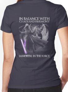 In Balance With Chaos And Harmony Immortal In The Force Women's Fitted V-Neck T-Shirt