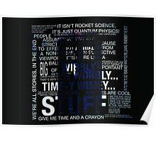 Typography Tardis Poster