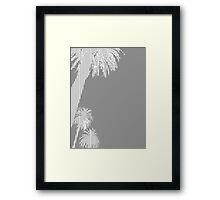 Grey Palms Framed Print