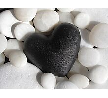 Black heart Photographic Print