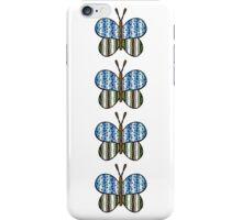 Dotty Stripe Butterfly - Blue Green iPhone Case/Skin