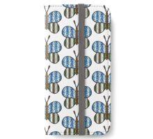 Dotty Stripe Butterfly - Blue Green iPhone Wallet/Case/Skin