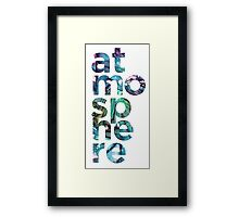 Atmosphere Word - Broken Glass Watercolor Galaxy Mosaic Framed Print