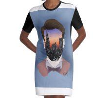 Faceless Graphic T-Shirt Dress