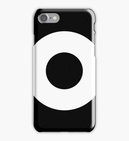 Black and white target iPhone Case/Skin