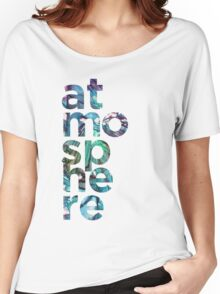 Atmosphere Word - Broken Glass Watercolor Galaxy Mosaic Women's Relaxed Fit T-Shirt