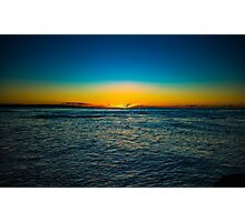 Sunset over the ocean New Zealand Photographic Print