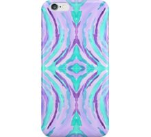 Watercolor Purple Turquoise Swirl Repeating Pattern iPhone Case/Skin