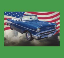 1957 Chevrolet Bel Air With American Flag Kids Clothes