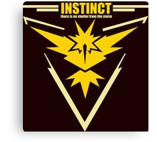 Team instinct pokemon go Canvas Print