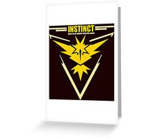 Team instinct pokemon go Greeting Card