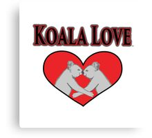 Koala Love  Canvas Print