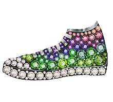PolyPunk Kicks w Bling Bling by Junky Star Brand Photographic Print