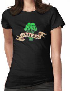 VEGAN BROCCOLI Womens Fitted T-Shirt
