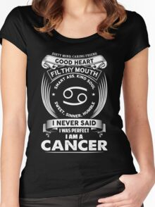 cancer horoscope T-shirt Women's Fitted Scoop T-Shirt
