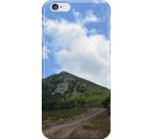 Natural scenery with mountains view and cloudy sky. iPhone Case/Skin