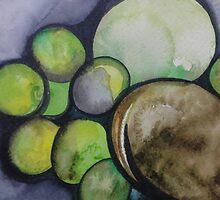 Limes and Avocado in Baja California by joelkeyart