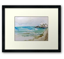 Beach in Puerto Rico Framed Print