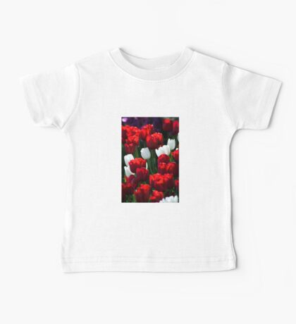 Red and White Tulips Baby Tee