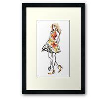 The Little Floral Dress Framed Print