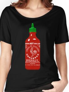 Sriracha Hot Chili Sauce T-shirt Women's Relaxed Fit T-Shirt