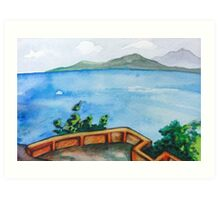 Hotel View in Thailand Art Print